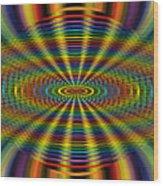 Atomic Rainbow Wood Print