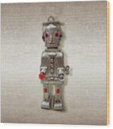 Atomic Tin Robot Wood Print