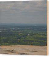 Atop Of Stone Mountain Wood Print