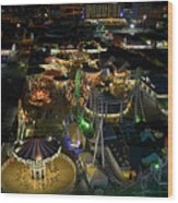Atop The Ferris Wheel Wood Print