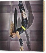 Attack Of The Bat Gal Wood Print