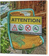 Attention Vernazza Trail Head Italy Dsc02657 Wood Print