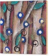 Atzin Tree Wood Print
