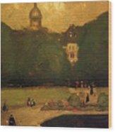 Au Jardin Du Luxembourg 1899 Wood Print
