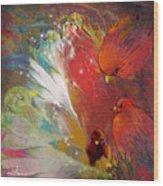 Au Pays Des Oiseaux Wood Print