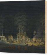 Au Petit Trianon Wood Print