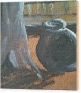 Au Pied Du Canari Wood Print