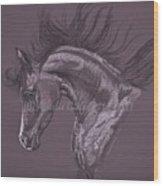 Aubergine Arabian Iv Wood Print