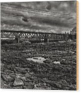 Auburn Lewiston Railway Bridge Wood Print