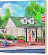 Auburn Sani-Freeze - The Flush Wood Print