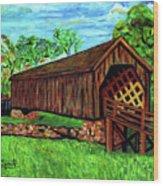 Auchumpkee Creek Covered Bridge Wood Print