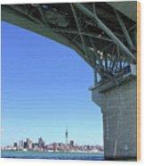 Auckland Harbour And Bridge Wood Print