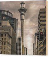 Auckland Sky Tower Wood Print