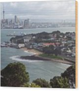 New Zealand - Picturesque Devonport Beach Wood Print