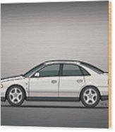 Audi A4 Quattro B5 Type 8d Sedan White Wood Print