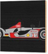 Audi R15 Wood Print