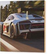 Audi R8 Lms - 14 Wood Print