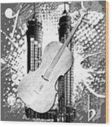 Audio Graphics 1 Wood Print