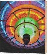 Auditorium Neon Wood Print