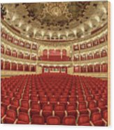 Auditorium Of The Great Theatre - Opera Wood Print