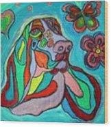 Audrey Basset Hound Wood Print