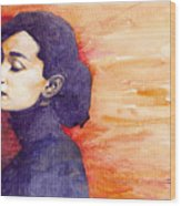 Audrey Hepburn 1 Wood Print
