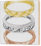 Audrey Hepburn Engagement To Mel Ferrer  Wood Print