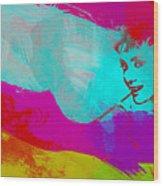 Audrey Hepburn Wood Print by Naxart Studio