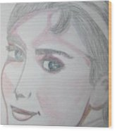Audrey Hepburn Series 5c Wood Print