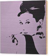 Audrey Pink Wood Print