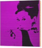 Audrey Purple Wood Print