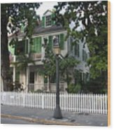 Audubon House Key West Wood Print