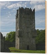 Aughnanure Castle Wood Print