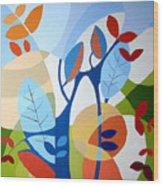 August Wood Print by Carola Ann-Margret Forsberg