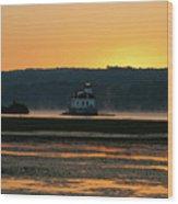 August Dawn At Esopus Light II Wood Print