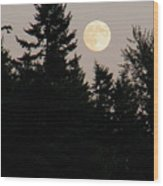 August Full Moon - 1 Wood Print