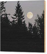 August Full Moon - 2 Wood Print