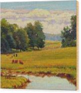 August Pastoral Wood Print