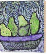 August Pears Wood Print