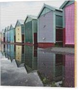 August Rains On The Promenade Wood Print