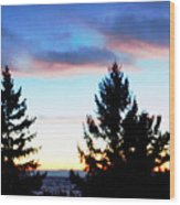 August Shadows Wood Print
