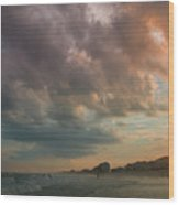 August Skies Over Ocean Isle Beach Wood Print