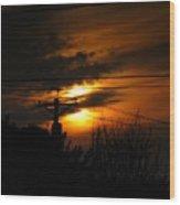 August Sunset Wood Print
