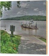 Historic Augusta Ferry. Wood Print