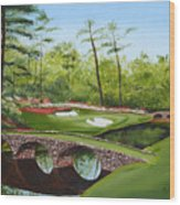 Augusta Golf Course Wood Print by Kimber  Butler