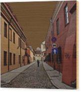 Augustojono Street Wood Print