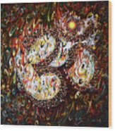 Aum - Cosmic Vibrations  Wood Print