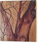 Mystical Tree Wood Print