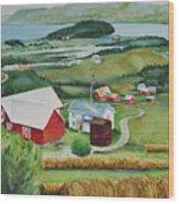 Aune Farm In Selbu Norway Wood Print