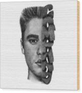 Justin Bieber Drawing By Sofia Furniel Wood Print
